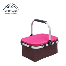 Picnic Ice Packs Australia - Wholesale- Portable Insulated Folding Picnic Basket Thicken Waterproof Fresh Keeping Oxford Colth Cooler Bag Lunch Insulation Bags Ice Pack