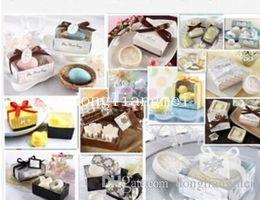 Discount devil love angel - 300pc Wedding Gifts Wedding Favors Duck Birds Love Toilet soap Wedding Supplies Gift box Packaging #Z508