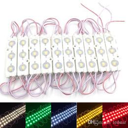Les modules de LED enregistrent le signe lumineux de fenêtre avant Lampe 3 SMD 5630 Injection blanc ip68 Imperméable à l'eau de bande de lumière de rétro-éclairage (10ft = 20pcs)