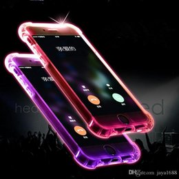 Iphone Call Phone Canada - Hot selling clear TPU led light calling flashing cell phone case cover for iphone 5 5S SE 6s 6 7 7plus