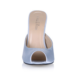 $enCountryForm.capitalKeyWord UK - 2017 Real Inage Women Slippers Summer Shoes Metal Heels Slip On Satin Peep Toe Party Shoes Cheap Summer Style Sandal Shoes