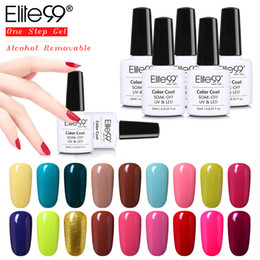 Base Gel Uv Baratos-Venta al por mayor- Elite99 un paso UV gel de uñas gel de barniz manicura alcohol extraíble sin necesidad de base superior 10ml saludable gel de uñas gel Gelpolish