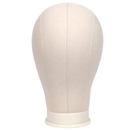 "China Canvas Block Mannequin Head For Wig Display Making And Styling Professional Head With Mount Hole 21""-25"" Circumference And Table Clamp Stand suppliers"