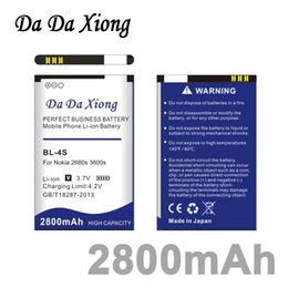 $enCountryForm.capitalKeyWord Canada - Da Da Xiong 2800mAh BL 4S BL-4S BL4S Li-ion Phone Battery for Nokia 2680s 3600s 7610s 6208c X3-02 7100s 7020 etc Mobile Phones