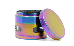 vs alloys 2019 - Rainbow Color 63MM*52MM Grinders For Tobacco Zinc Alloy Grinder With CNC Teeth Smoke Dry Herb Crusher VS Lighting Crushe