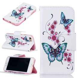 Peach iPhone online shopping - Peach Flower Wallet Leather Case For Iphone X S Plus Back Stand Holder Credit Card Holder Slot Phone Cases
