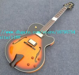 $enCountryForm.capitalKeyWord Canada - free shipping new Big John gold hardware mahogany body sunburst hollow electric guitar F-1286