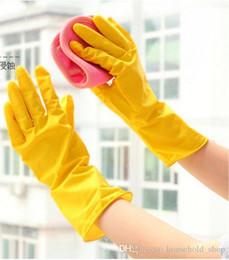 4bf96b6716034 Guantes para el hogar Goma para la limpieza Duradero del lavaplatos Guantes  para el trabajo doméstico