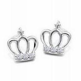 $enCountryForm.capitalKeyWord UK - sterling silver earrings jewelry S925 Korean fashion crown Earrings