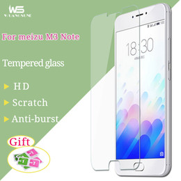 cell phone screen protectors note 2019 - Wholesale-Meizu M3 Note  Tempered Glass Screen Protector Explosion-Proof Protective Glass Film For Meizu Meilan note 3 C