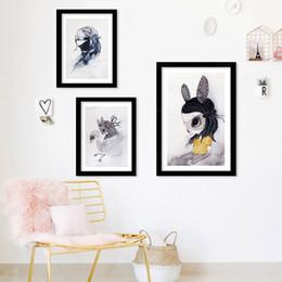 $enCountryForm.capitalKeyWord NZ - New Cuadros Nordic Duvar Tablolar Rabbit Girl Canvas Art Wall Art Canvas Painting Wall Pictures For Living Room Nursery Posters No Frame