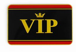 Discount sticker vip cars - High Quality Aluminum alloy Sticker VIP Car Motorsport Sticker Label Emblem Badge car styling [80x50mm]