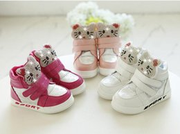 Girls Shoes Canada - Winter Plush Baby Girls Snow Boots Warm Shoes Pu Leather Flat With Baby Toddler Shoe Outdoor Snow Boots Girls