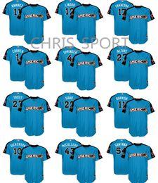 ae41779a6 ... 2017 World Baseball Classic Authentic Team Jersey Mens American League  Majestic blue MLB All-Star Jose Ramirez George Springer Carlos Correa Ervin  ...