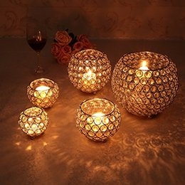 $enCountryForm.capitalKeyWord NZ - Crystal Tealight Candle Holders for Wedding Table Centerpieces Dining Room Holiday Home Decorative Candle Lantern Birthday Housewarming Gift