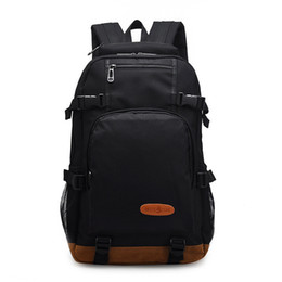 cool high school bags NZ - Waterproof Cool Backpack Men Preppy Style School Bag for Teenagers Boys High Middle School Student Schoolbag Large Capacity