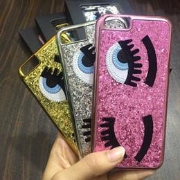 $enCountryForm.capitalKeyWord Canada - Glitter powder fashion chiara ferragni Bling big eyes eyelashes PC Plating back Cover phone Cases for iPhone xr x xs max 8 7 6 6S Plus