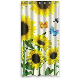 $enCountryForm.capitalKeyWord UK - Customs 36 48 60 66 72 80 (W) x 72 (H) Inch Shower Curtain Sunflower Butterfly Pattern Waterproof Polyester Fabric Shower Curtain