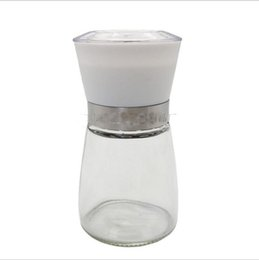 $enCountryForm.capitalKeyWord Australia - Eco Friendly Glass Manual Grinder Kitchen Pepper Seasoning Cans Black Sesame Seeds and Ground Cumin Pepper Millet Tool