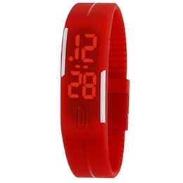 China LED Watch Fashion Boys And Girls Touch Screen Watch Sports Rectangle students Silicone Bracelets Digital Watches Wholesale Cheap Watch cheap cheap boys watches suppliers