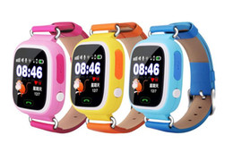 $enCountryForm.capitalKeyWord Canada - For Kid Fashion Q90 GPS Phone Watch Children Bluetooth Watches 1.22inch Color Touch Screen WIFI SOS Tracking Smart Watch GPS WIFI LBS