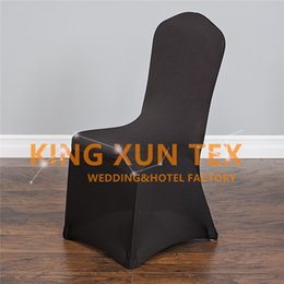 Wholesale Chairs For Events Canada - Cheap Wedding Chair Cover \ Lycra Spandex Chair Cover For Banquet Event Decoration Many Colors Choose For you