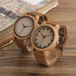 $enCountryForm.capitalKeyWord NZ - BOBO BIRD A16 A19 Wooden Watches Japan Quartz 2035 Fashion Casual Natural Bamboo Clocks for Men and Women in Paper Gift Box