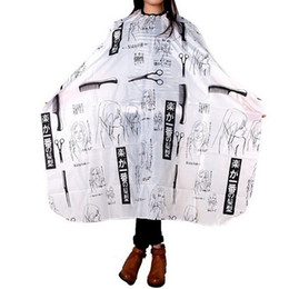 Discount hair cutting cape hairdressing - Sketch Hairdressing Hair Cutting cape Salon Hairstylist Nylon Waterproof Gown Cape Cloth Hairdresser Barber Capes Tools