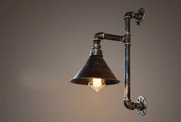 Vintage Bedside Lights NZ - Vintage Industrial Edison Wall lamps Metal Water Pipe Wall Sconce Warehouse Wall Light Fixtures E27 110V 220V Bedside Lighting LLFA