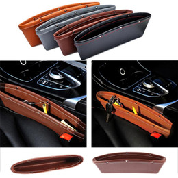 Color Leather Bags Australia - 2PCS Leather Car Seat Gap Storage Pocket Luxury 4 Color Mobile Phone Keys Cigarette Carriage Bag