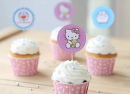 $enCountryForm.capitalKeyWord Australia - Cartoon Pick Cupcake Toppers Picks Cupcake Pick Muffin Cupcake Wrappers and Toppers for Baby Shower Birthday Party Decorations