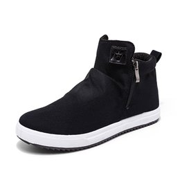 Spring Fall Canvas Shoes Australia - Men Canvas Shoes 2017 Hot Lace-up Unisex Style Breathable Fashion Casual Youth Students Flat Shoe High Top Shoe