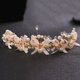 Hair Comb Flower Pink Canada - CHENLVXIE Hot Sale Tiara Wedding Hair Comb Vintage Bridal Hair Accessories Crystal Bouquet Collection Top Quality Handmade WT035