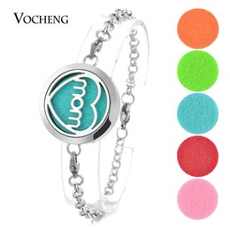 $enCountryForm.capitalKeyWord Canada - Perfume Locket Bracelet 316L Stainless Steel Bangle Love Mom Essential Oils Diffuser 30mm 2 Styles Magnetic without Felt Pads VA-284