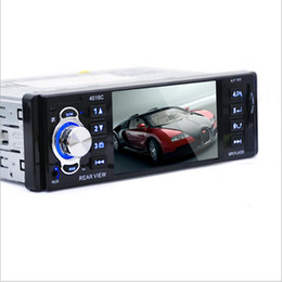China Wholesale- 4.1inch Screen Car Stereo DVD FM Radio MP3 MP5 HD Player Bluetooth Phone with USB SD MMC Port Car Electronics 1 DIN cheap sd speakers suppliers