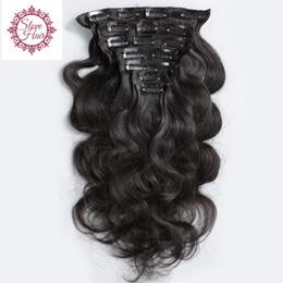 China 8A Grade 100% Virgin Body Wave Clip In Human Hair Extensions Wavy Mongolian Virgin Clip In Hair Extensions Human Hair Full Head supplier clip virgin mongolian hair suppliers