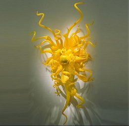 $enCountryForm.capitalKeyWord Australia - Luxury Wall Lights Yellow Color Modern Home Hotel Decorations Look Hand Blown Glass Wall Lamps