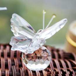 Crystals Souvenir Australia - FREE SHIPPING + Choice Crystal Collection Precious Butterfly Souvenir Wedding Decorations Party Favors promotional gift wholesale wen4503