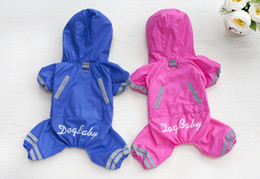 Cute Dog Jumpsuits Canada - Y67 2017 New Pet Dog Raincoat Jacket Clothes Cute Puppy Dogs Cats Waterproof 4 legs Jumpsuit Rainwear Teddy dog Slicker