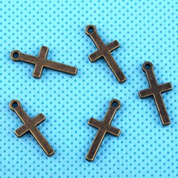 China Vintage Bronze Alloy Cross Crucifix Charms Pendants For Bracelet Necklace Fashion Jewelry Making Beads Accessories 200PCS Z3095 cheap vintage crucifixes suppliers