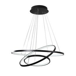 LED Hngelampe Modern 3 Ring Rund Design Esszimmerlampe Wohnzimmerlampe Esstischlampe Beleuchtung Leuchte Acryl Metall