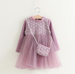 $enCountryForm.capitalKeyWord Canada - 2017 Baby Girl kids Party Dress Autumn Girls Sweet Princess Long sleeve dress with Handbag Baby Kids Clothing