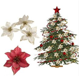 13cm 511 6color flashing poinsettia christmas tree ornaments artificial christmas tree decoration event party supplies to124 - Christmas Tree Prices
