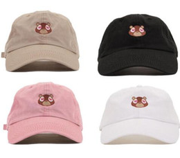 8a352a838c426 Kanye West Dropout Bear Dad Hat Embroidered Drake Baseball Cap Yeezus Dad  Cap Unreleased Hat casquette sun caps drake 6 god pray ovo hats