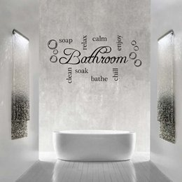 Bathroom Wall Sticker Quotes Australia - For Bathroom Word Cloud Quote Vinyl Wall Art Sticker Mural Decal Bathroom Soak Enjoy Diy Decoration