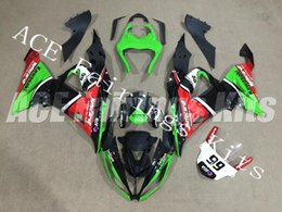 Red Black Kawasaki Zx6r NZ - Three free beautiful gift new high quality ABS Injection fairing plates for Kawasaki Ninja ZX6R 599 636 2013-2016 nice red green black