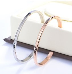 Wholesale New Bracelets Cuff Rose Gold Silver Bangle stainless steel Bracelet Women and Men Bracelet pulsera