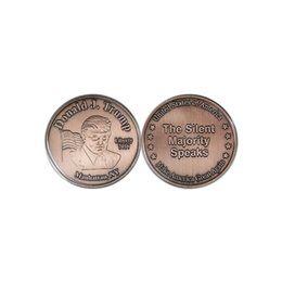 $enCountryForm.capitalKeyWord NZ - 5pcs Liberty 2016 Donald J. Trump Souvenir Coin The Silent Majority Speaks Make America Great Again