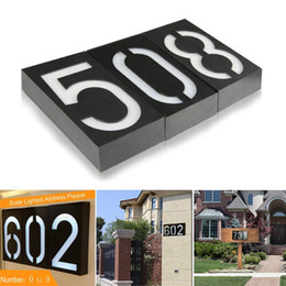 Battery numBers online shopping - Solar Powered Wall Mount LED Bulb Lamp Illumination Doorplate Lamp House Number Porch Lights With Solar Battery