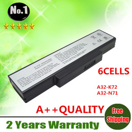 $enCountryForm.capitalKeyWord Canada - Wholesale-Wholesale New 6cells laptop battery FOR ASUS K72 K73 A72 N71 N73 X77 Series A32-K72 A32-N71 70-NX01B1000Z free shipping
